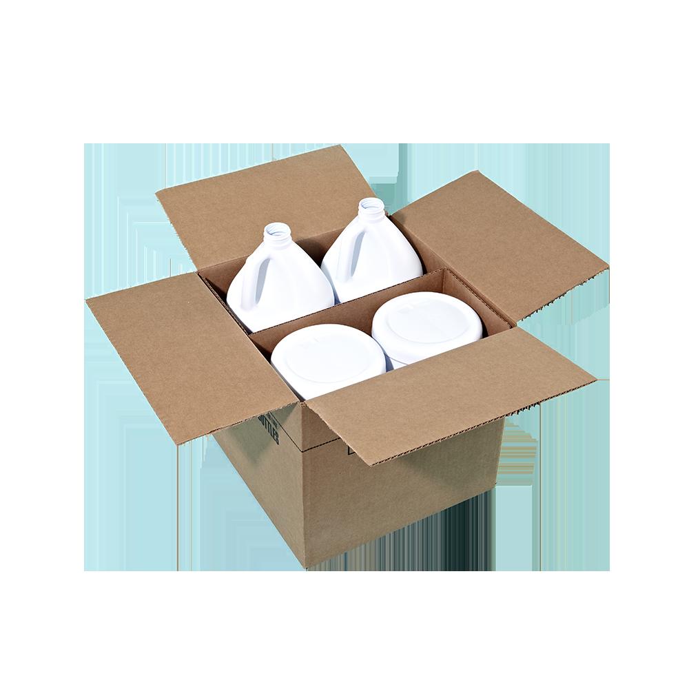 1 Gallon White-White HDPE Round Handleware Container, 38-400