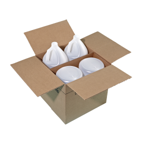 1 Gallon Natural HDPE Round Handleware Container, 38-400, Bulk