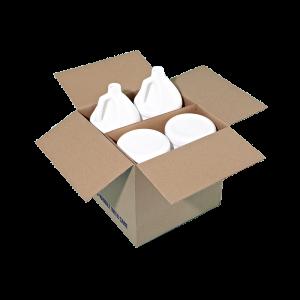 1 Gallon White-White HDPE Round Handleware Container, 38-400, Bulk Droplock