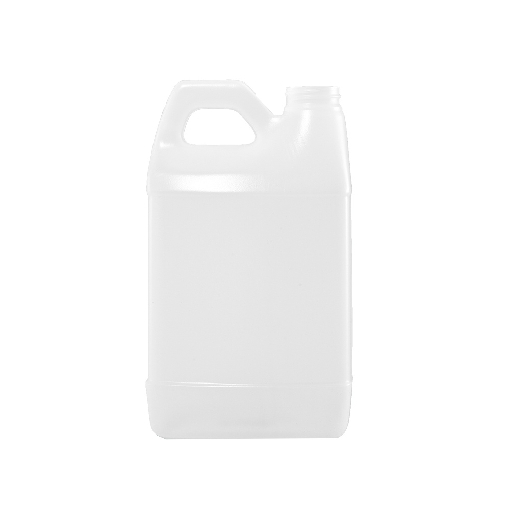 2 Liter Natural HDPE F-Style Container, 38mm