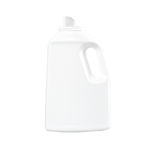64 oz White HDPE Laundry Drainback Bottle, 70mm
