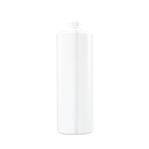 32 oz White HDPE Plastic Cylinder Bottle, 28-410