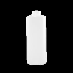 32 oz Natural HDPE Plastic Cylinder Bottle, 38-400