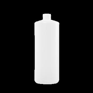 32 oz Natural HDPE Plastic Cylinder Bottle, 28-410