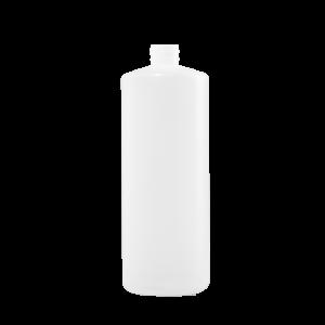 32 oz Natural HDPE Plastic Cylinder Bottle, 28-410, FTL1