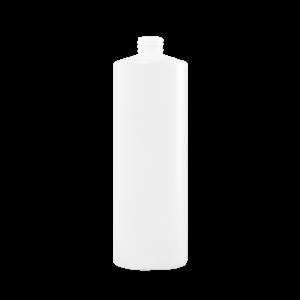 32 oz Natural HDPE Plastic Cylinder Bottle, 28-410, 52 Gram
