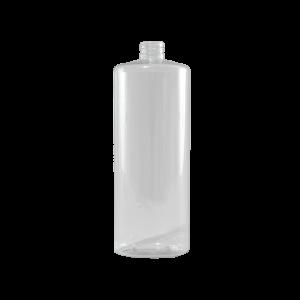 32 oz Clear PVC Plastic Cylinder Bottle, 28-410