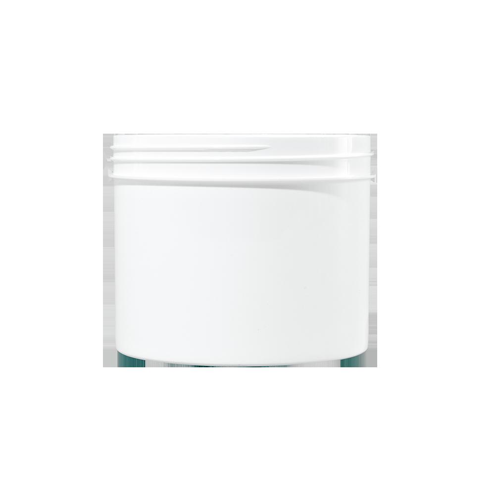32 oz White PP Plastic Facial Jar, 120-400