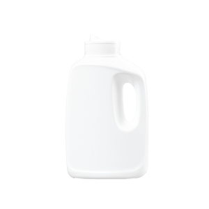 32 oz White HDPE Laundry Drainback Bottle, 48mm