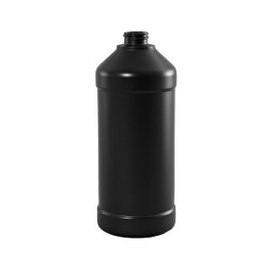 32 oz Brown BARRIER Plastic Modern Round Bottle, 28-400