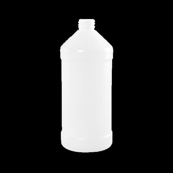 32 oz Natural HDPE Plastic Modern Round Bottle, 28-410