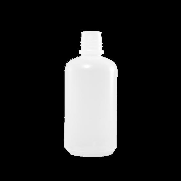 32 oz Natural LDPE Plastic Boston Round Bottle, 38-430