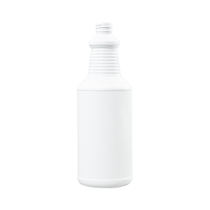 32 oz Blue-White HDPE Carafe/Decanter Bottle, 28-410