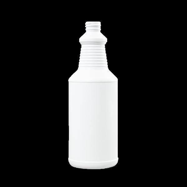 32 oz Blue-White HDPE Carafe/Decanter Bottle, 28-410, FTL3