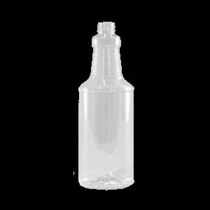 32 oz Clear PET Carafe/Decanter Bottle, 28-410