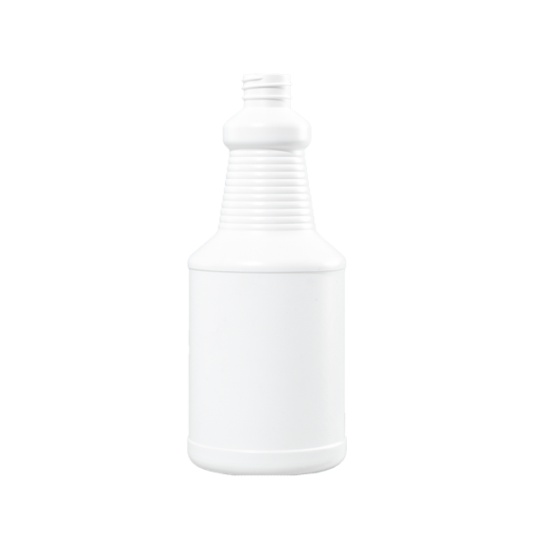 24 oz White HDPE Carafe/Decanter Bottle, 28-410