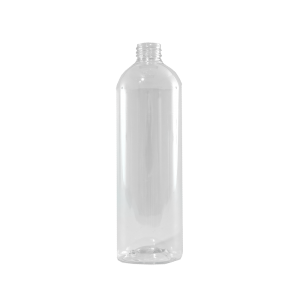 24 oz Clear PET Plastic Bullet Bottle, 28-410