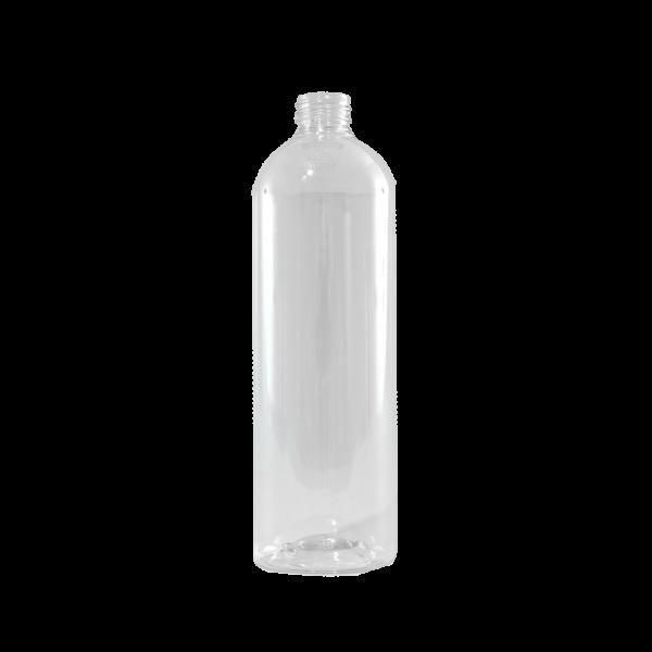 24 oz Clear PET Plastic Bullet Bottle, 28-410