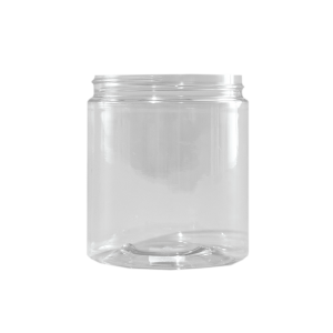 19 oz Clear PET Plastic Facial Jar, 89mm