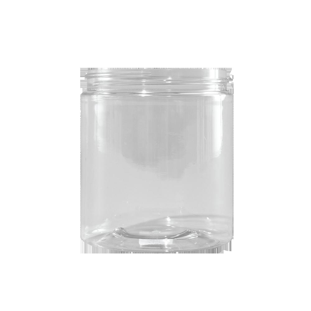 19 oz Clear PET Plastic Facial Jar, 89mm