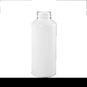 20 oz Natural HDPE Plastic Cylinder Bottle, 38-400