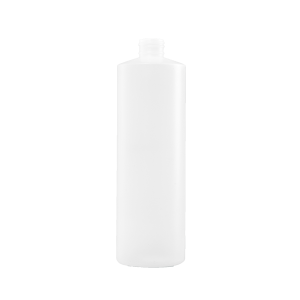 16 oz Natural HDPE Plastic Cylinder Bottle, 24-410