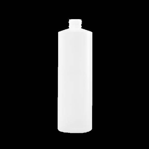 16 oz Natural HDPE Plastic Cylinder Bottle, 24-410