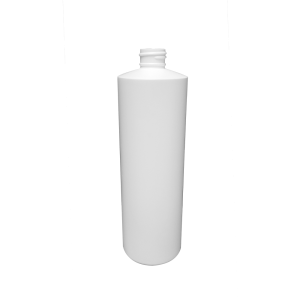 16 oz White HDPE Plastic Cylinder Bottle, 24-410
