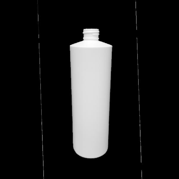 16 oz White HDPE Plastic Cylinder Bottle, 24-410