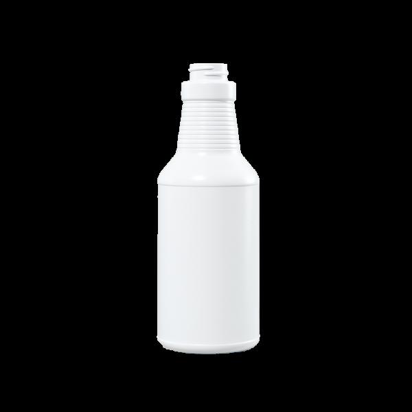 16 oz Blue-White HDPE Carafe/Decanter Bottle, 28-400