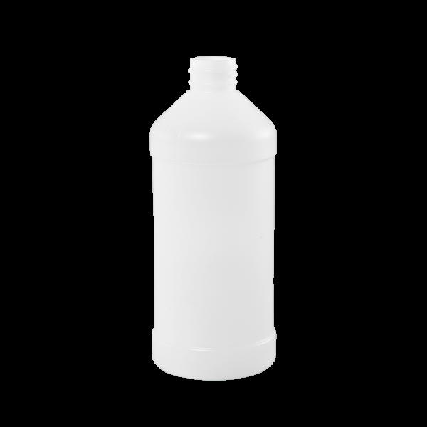 16 oz Natural HDPE Plastic Modern Round Bottle, 28-410