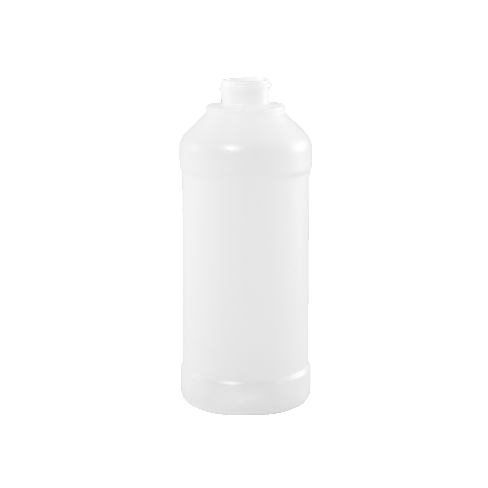 16 oz Natural BARRIER Plastic Modern Round Bottle, 28-400