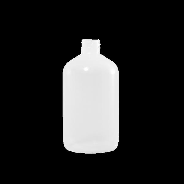 16 oz Natural LDPE Plastic Boston Round Bottle, 28-400