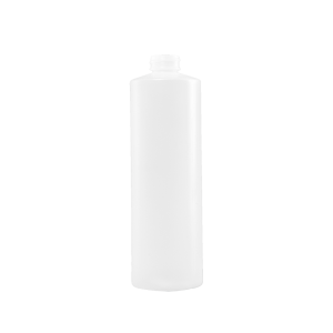 16 oz Natural HDPE Plastic Cylinder Bottle, 28-400