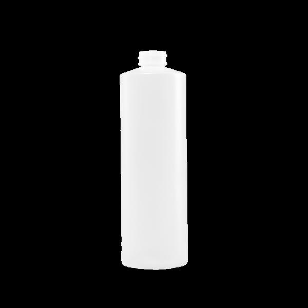 16 oz Natural HDPE Plastic Cylinder Bottle, 28-400