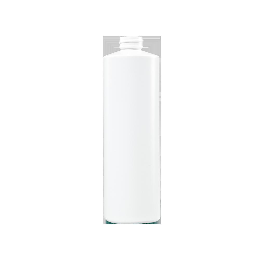 16 oz White HDPE Plastic Cylinder Bottle, 28-400