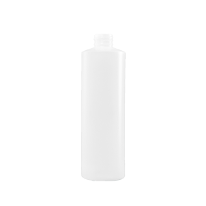 16 oz Natural HDPE Plastic Cylinder Bottle, 28-410