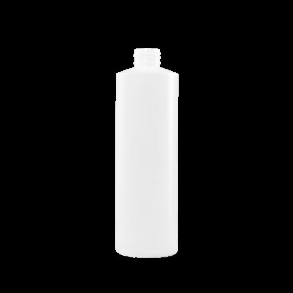 16 oz Natural HDPE Plastic Cylinder Bottle, 28-410