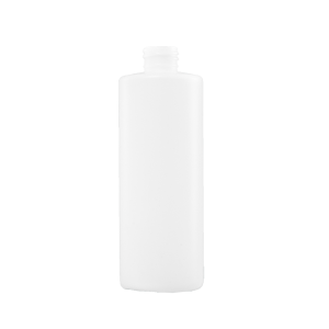 16 oz Natural HDPE Plastic Cylinder Bottle, 28-410, FTL5