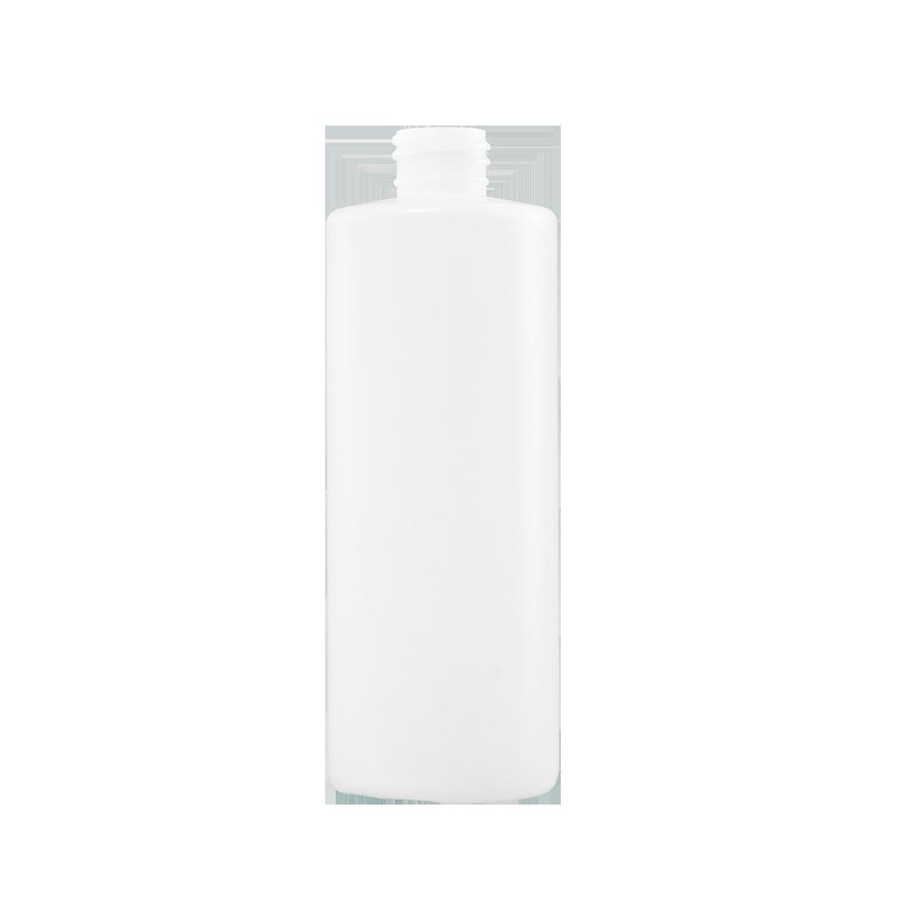 16 oz Natural HDPE Plastic Cylinder Bottle, 28-410, FTL5
