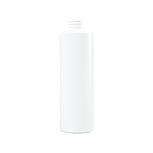 16 oz White HDPE Plastic Cylinder Bottle, 28-410