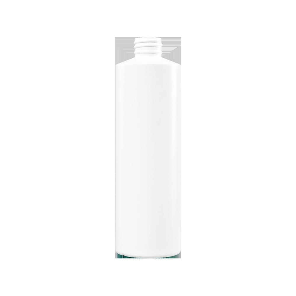 16 oz White HDPE Plastic Cylinder Bottle, 28-410