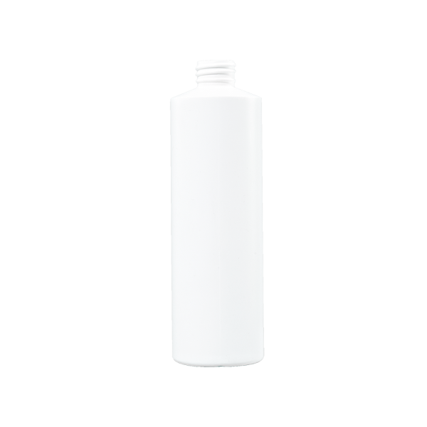 16 oz White HDPE Plastic Cylinder Bottle, 28-410, FTL3