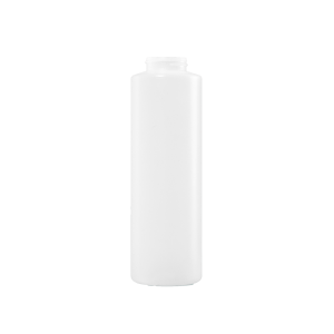 16 oz Natural HDPE Plastic Cylinder Bottle, 38-400