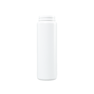 16 oz White HDPE Plastic Cylinder Bottle, 53-400