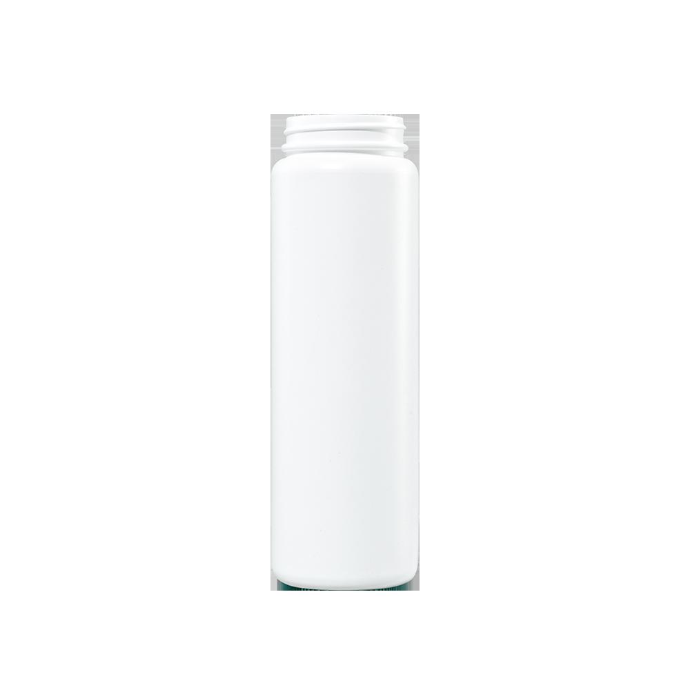 16 oz White HDPE Plastic Cylinder Bottle, 53-400
