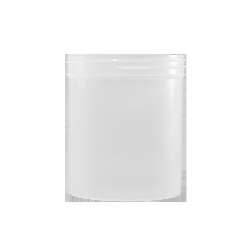 16 oz Natural PET Plastic Facial Jar, 89-400