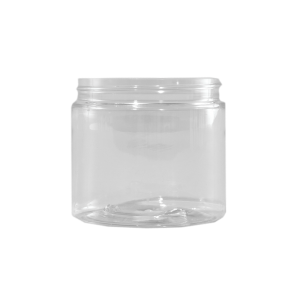 16 oz Clear PET Plastic Facial Jar, 89-400
