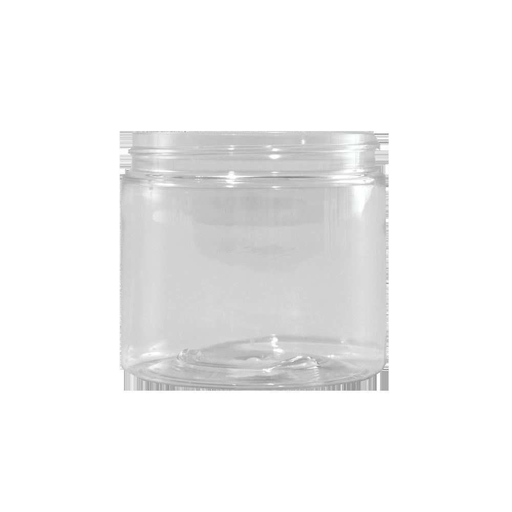 16 oz Clear PET Plastic Facial Jar, 89-400