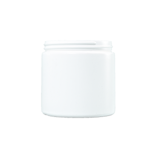 16 oz White HDPE Plastic Facial Jar, 89-400